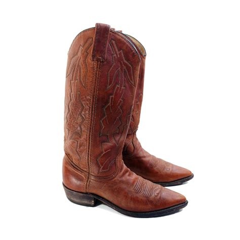 wearing cowboy boots s cowboy boots in brown western wear by dan post for