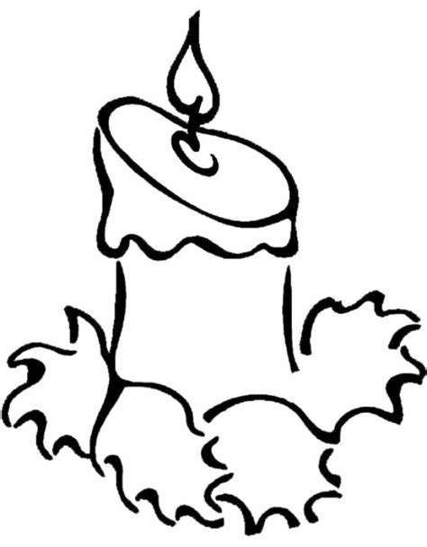 candela natalizia da colorare sta disegno di candela di natale da colorare