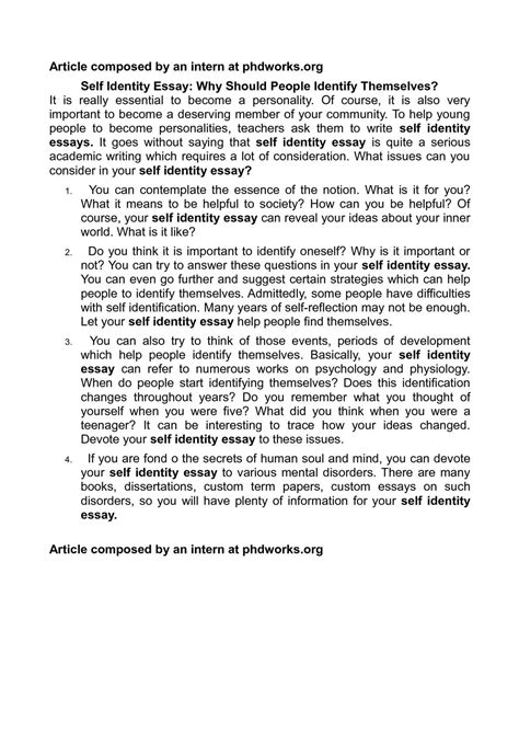Self Image Essay by Self Help Essay My Introduction Essay My Introduction Essay Gupipnodns My To Write Self