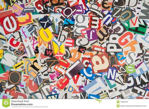 lettere soprammobili newspaper letters texture stock illustration