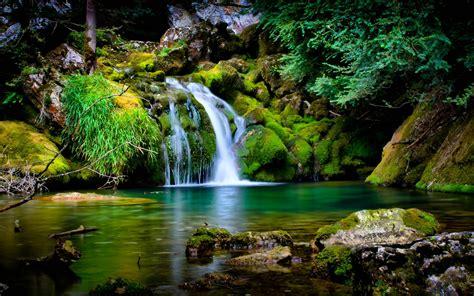 beautiful nature landscape beautiful nature green tropical waterfall rocks