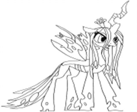 my little pony queen chrysalis coloring pages www