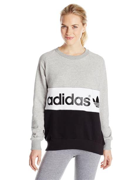 Adidas Men39s Authentic Logo Crew Sweatshirts Blue Original sweater adidas originals sweater jacket