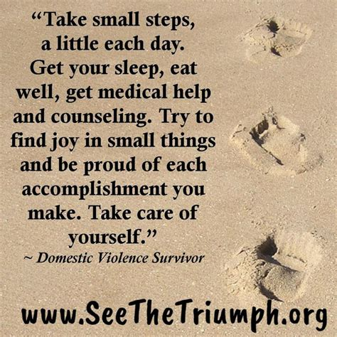 domestic violence survivor quotes on pinterest domestic quot take small steps a little each day quot domestic violence