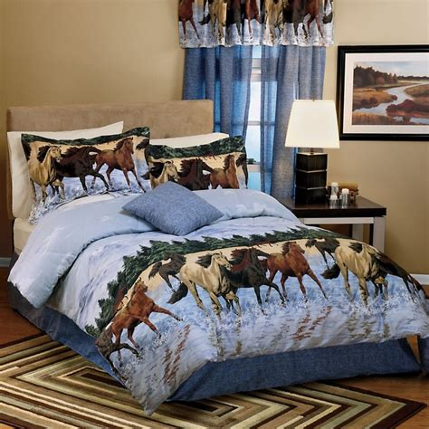 horse comforter sets horses by the water comforter set horses pinterest