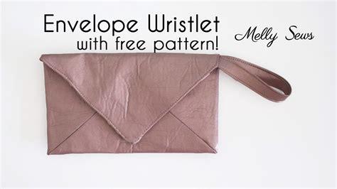 envelope wristlet pattern sew a wristlet envelope clutch with free pattern youtube