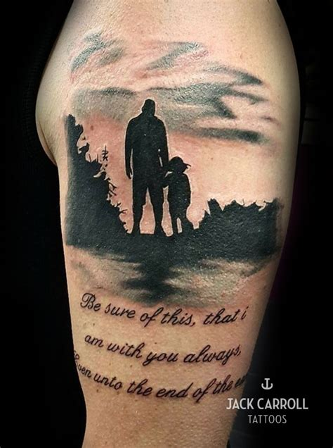father daughter tattoo black and white and tattoos