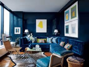 Decorating Ideas For Living Room With Blue Sofa Navy Blue Interior Design Thraam