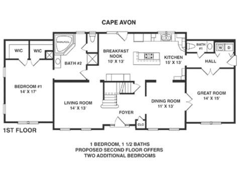 modular home floor plans california cape avon by penn lyon homes cape cod floorplan