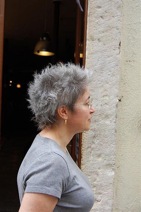 pictures of womens short dark hair with grey streaks short gray hair styles bakuland women man fashion blog