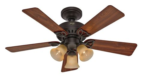 amazon hunter ceiling fans hunter 20438 beacon hill 42 inch 3 light 5 blade ceiling