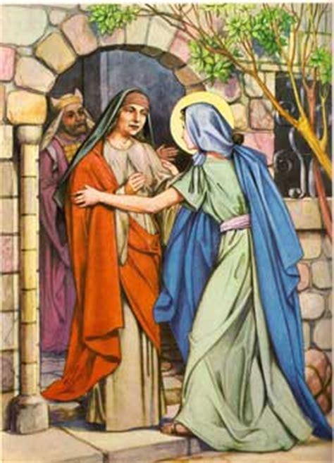 imagen de la virgen maria visitando a su prima isabel mes 237 as i infancia de jes 250 s