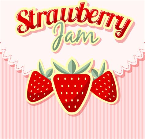 background jam strawberries jam with pink background vector free vector