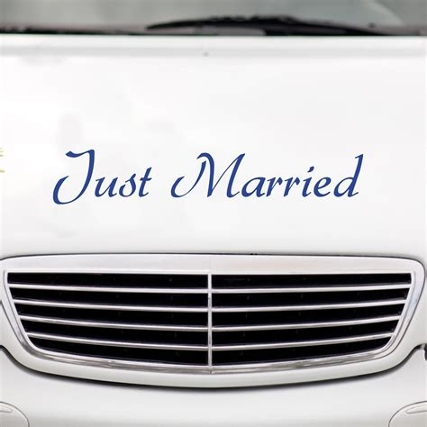 Just Married Aufkleber F R Auto by Autoaufkleber Quot Just Married Quot Aufkleber Just Married Auto