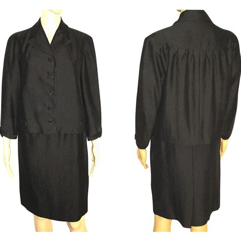 swing suit 1950s suit 2 piece jacket swing back black from