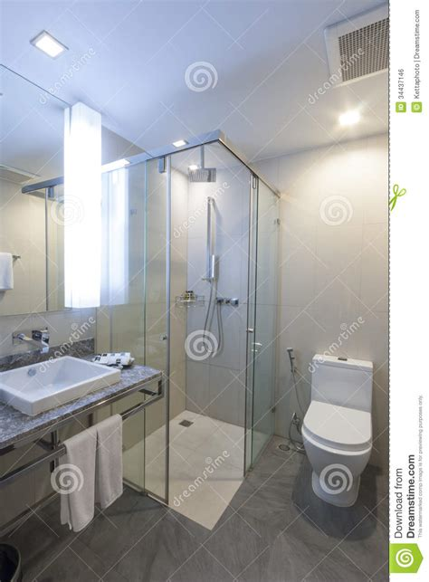 bathroom stock photo image of construction hotel glass