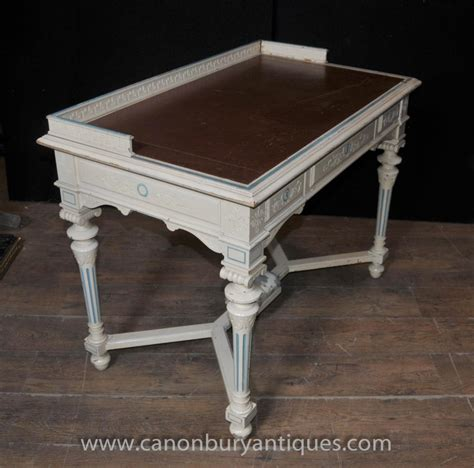 napoleon desk writing table bureau painted shabby chic
