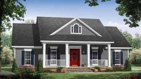 house plans with front porch one story small country house plans with porches best small house