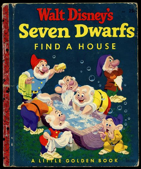 value of walt disney golden books filmic light snow white archive 1948 52 quot seven dwarfs quot book from grosset dunlap golden