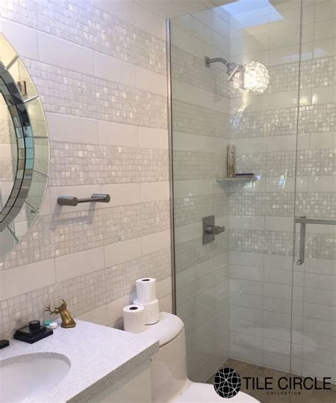 unique bathroom tiles designs a stunning and unique bathroom tile installation using mother of pearl tiles from