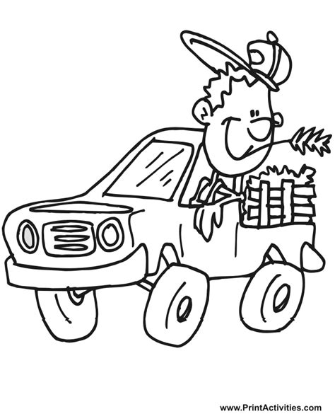 pick  truck coloring pages coloring home