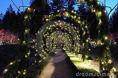 Garden Arch With Lights Garden Arches And Path Royalty Free Stock Photos