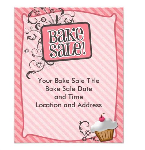 bake sale flyer template free bake sale flyer template 34 free psd indesign ai