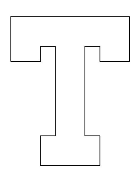 printable letter t stencils letter t pattern use the printable outline for crafts