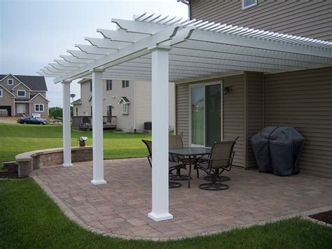 Heartland Pergolas Attached Vinyl Pergola Kit Project Attached Vinyl Pergola Kits