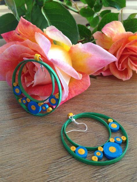 Handmade Paper Quilling Earrings - handmade paper quilled earrings