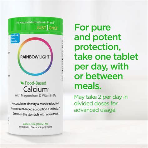 rainbow light food based calcium with magnesium and vitamin d3 rainbow light food based calcium calcium magnesium