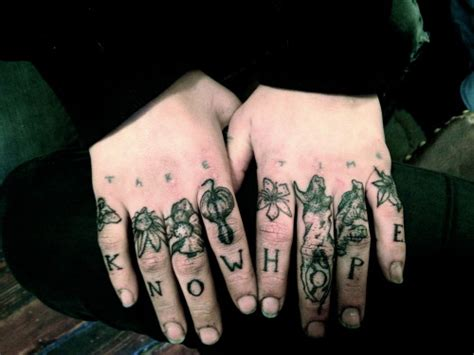 tumblr finger tattoos finger tattoos on