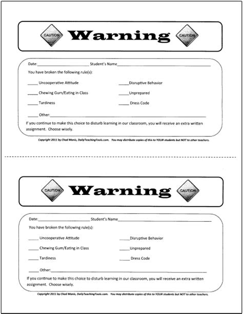 up slip template exle of disciplinary write up student search results