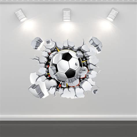 Football Bedroom Wall Stickers by Items Similar To Football Soccer Wall Sticker Mural