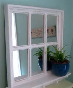 shabby chic white mirror window nursery by