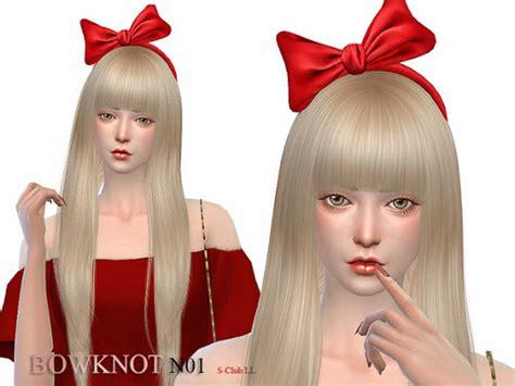 hair bow sims 4 custom content hair bow sims 4 custom content