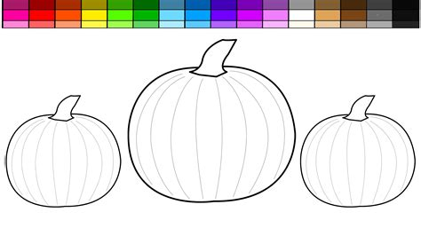 pictures to color learn colors for and color pumpkin coloring