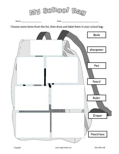 school objects matching b w worksheets kola pinterest free worksheets 187 school items worksheet free math
