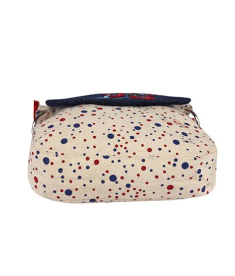 Slingbag Polkadot Bs016 buy and blue polka dot canvas sling bag with blue top and embroidery