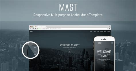 Mast Awesome New Multipurpose Responsive Adobe Muse Theme Adobe Muse Ecommerce Templates Free