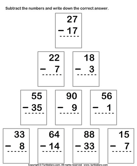 Is Regrouping by Subtracting Two Digit Numbers With Regrouping Activities
