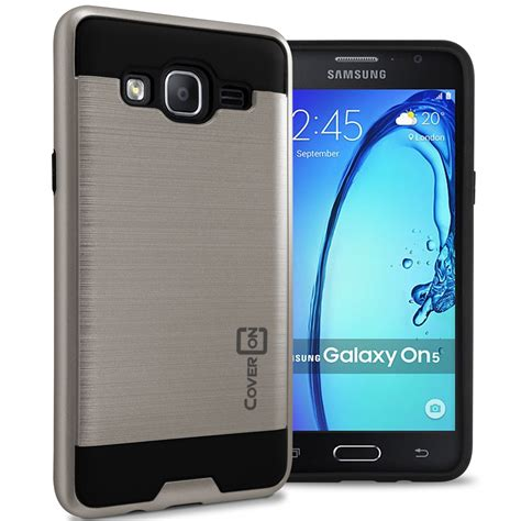 Samsung On5 For Samsung Galaxy On5 Slim Faux Brushed Metal Phone Cover Ebay