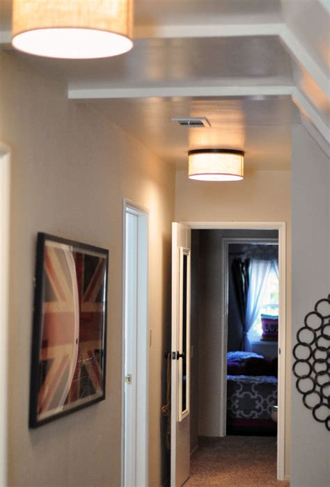 Ideas For Painting A Bathroom Long Hallway With A Slanted Ceiling Amp Sitting Area