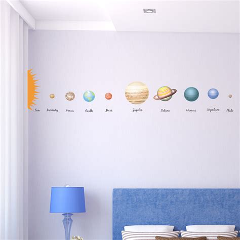 solar system bedroom decor quot for jordan my little educational solar system planets children s wall decal