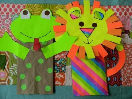 Paper Sack Crafts - paper sack puppets lesson plans