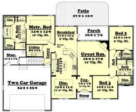 1900 sq ft house plans country style house plan 3 beds 2 baths 1900 sq ft plan 430 43