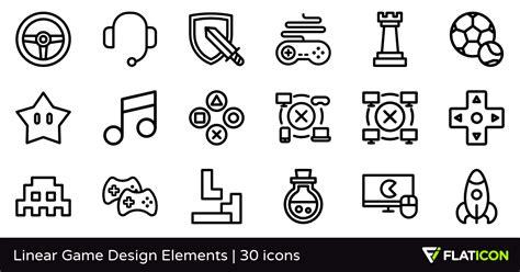 design elements quiz linear game design elements 30 free icons svg eps psd