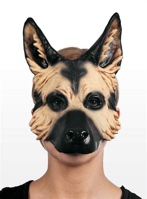 Halloween Decorations You Can Make At Home German Shepherd Latex Half Mask Maskworld Com