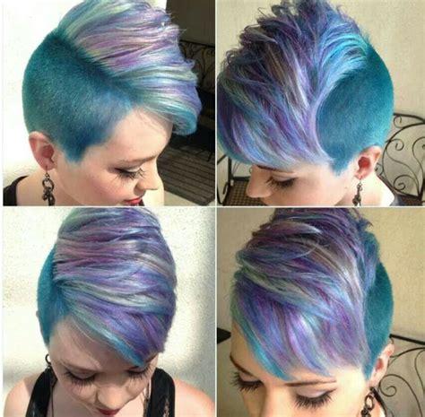 colorful short haircuts  haircut web