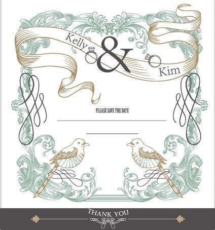 wedding design elements vector free set of wedding card design elements vector free vector in